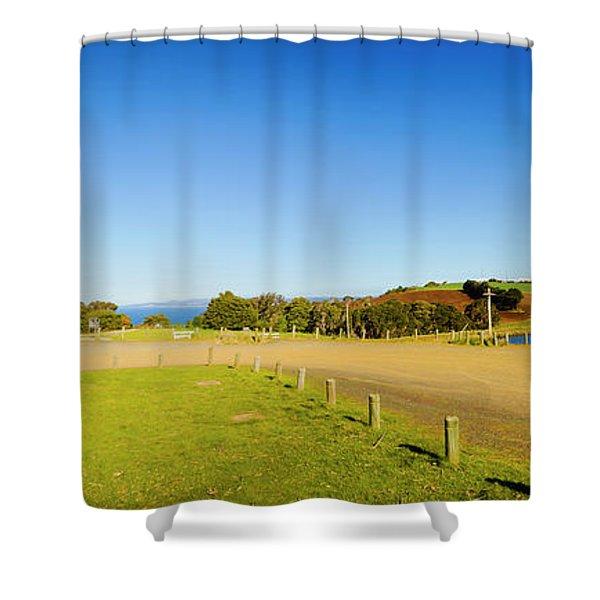 Wide Coastal Beacon Shower Curtain