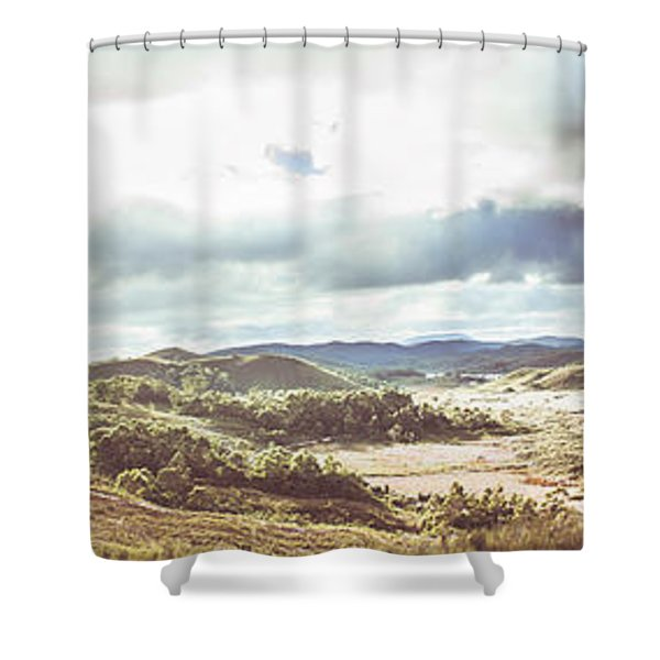 Wide Open Country Australia Shower Curtain