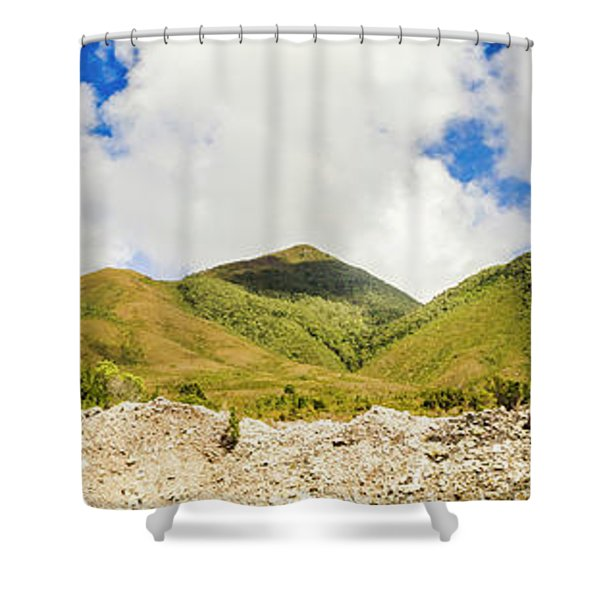 Wide West Coast Of Tasmania Shower Curtain