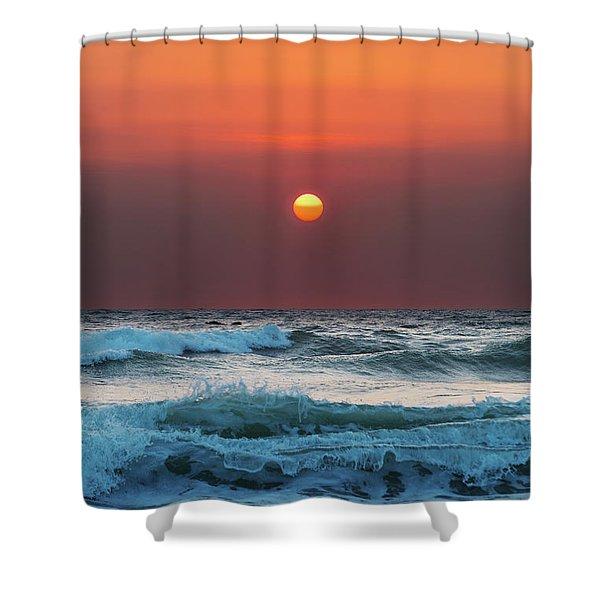 Widemouth Sunset, Cornwall Shower Curtain