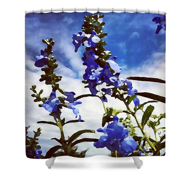 Wild Blue Sage  Shower Curtain