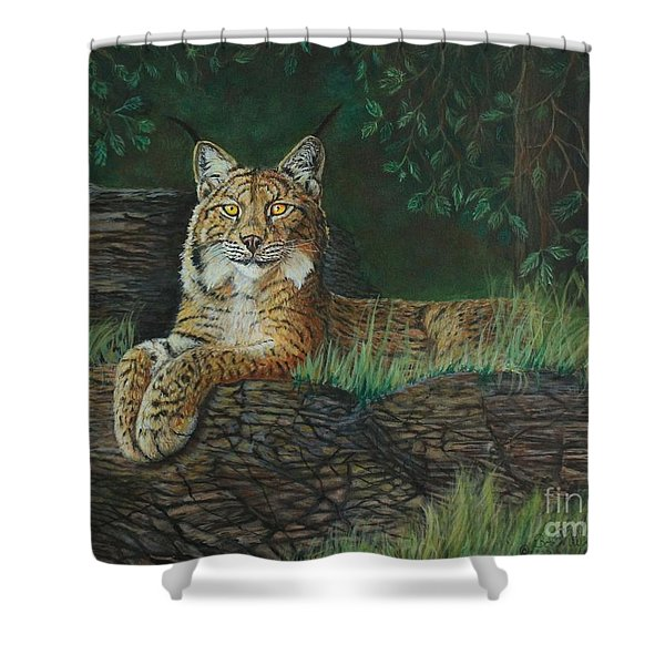 The Ever Watchful Lynx Shower Curtain