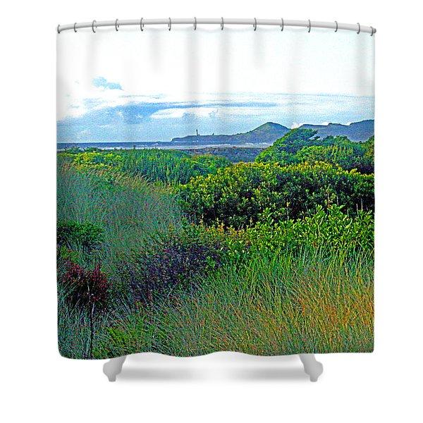 Wild Coastal Flora Shower Curtain