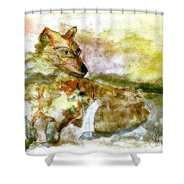 Wild Country Wolf Shower Curtain