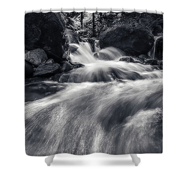 wild creek in Harz, Germany Shower Curtain