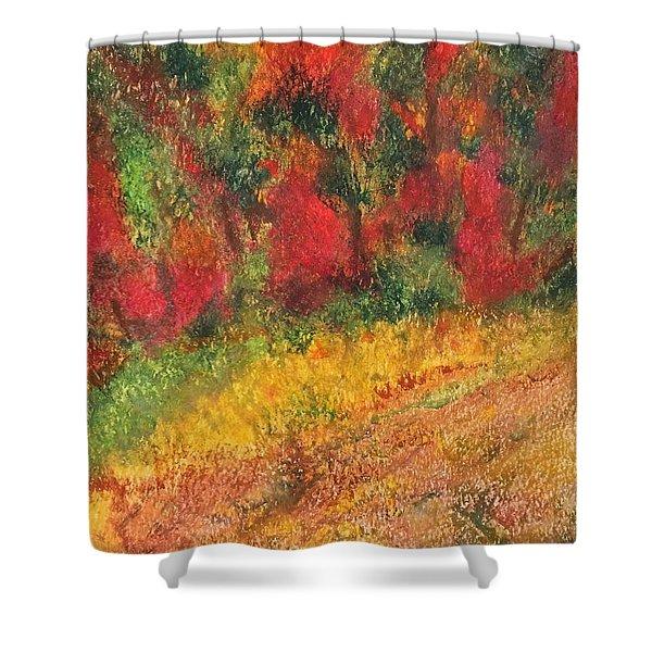 Wild Fire Shower Curtain