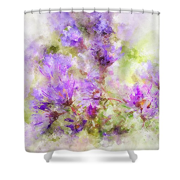 Wild Flowers In The Fall Watercolor Shower Curtain