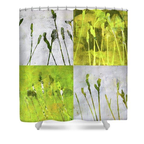 Wild Grass Collage 1 Shower Curtain