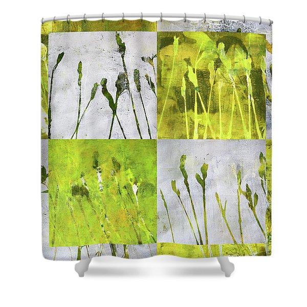 Wild Grass Collage 3 Shower Curtain