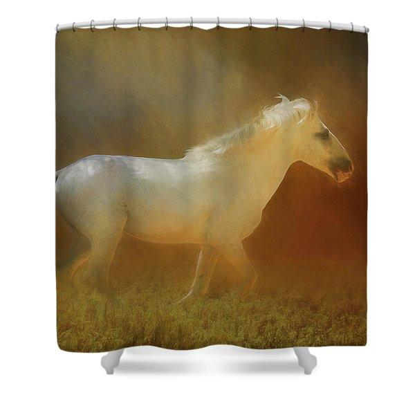 Wild Horse Run Shower Curtain