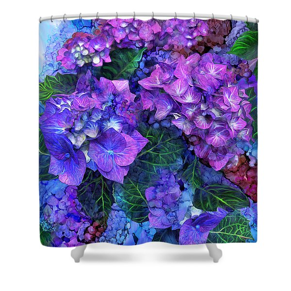 Wild Hydrangeas Shower Curtain