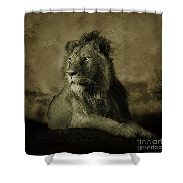 Wild Lion King  Shower Curtain