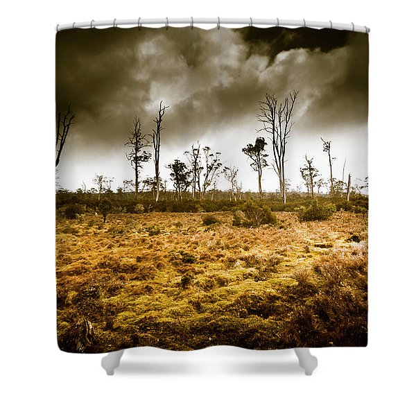 Wild Moors  Shower Curtain