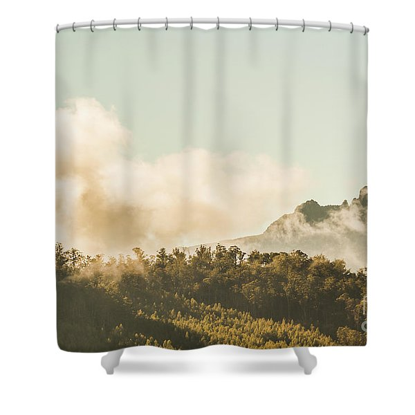 Wild Morning Peak Shower Curtain