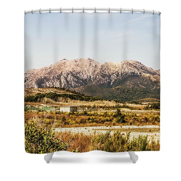 Wild Mountain Range Shower Curtain