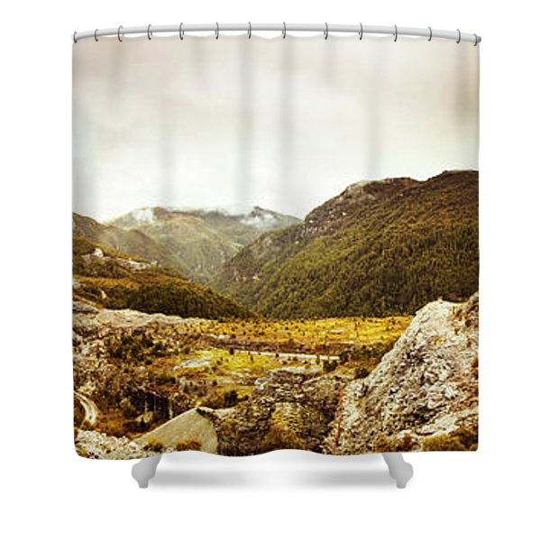 Wild Mountain Terrain Shower Curtain