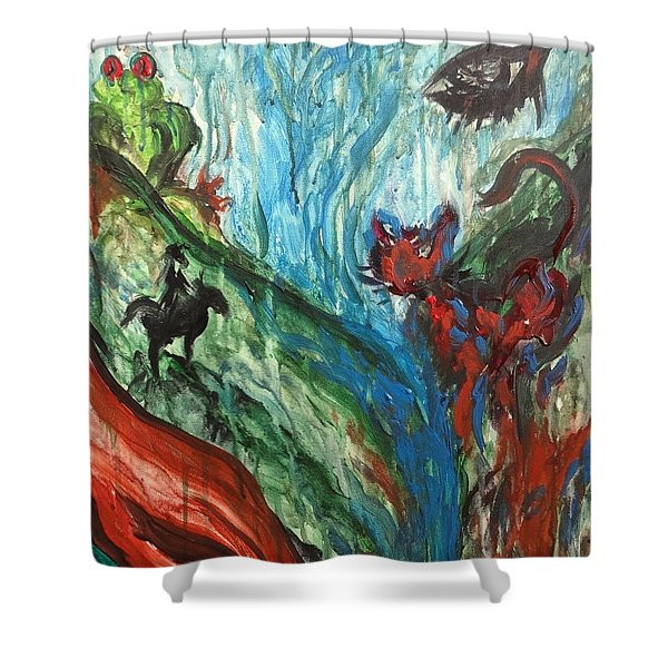 Wild Periscope Collaboration Shower Curtain