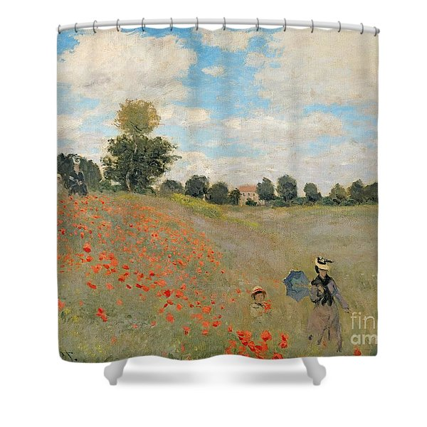 Wild Poppies Near Argenteuil Shower Curtain
