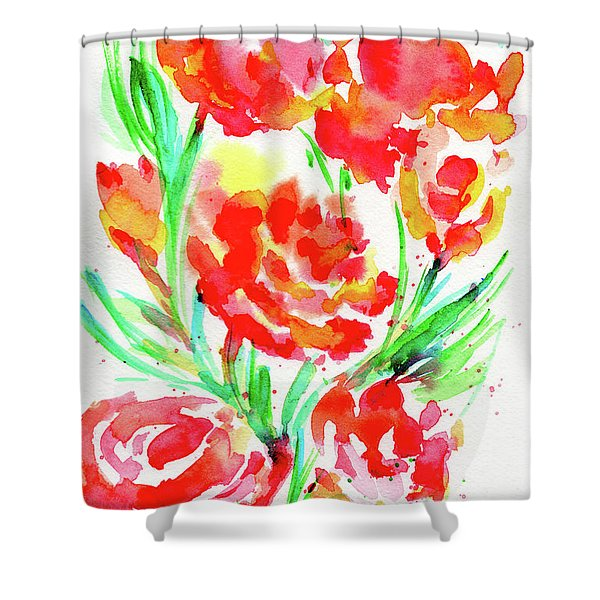 Wild Reds  Shower Curtain