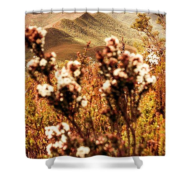 Wild West Mountain View Shower Curtain