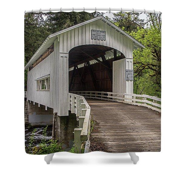 Wildcat Creek Bridge No. 1 Shower Curtain