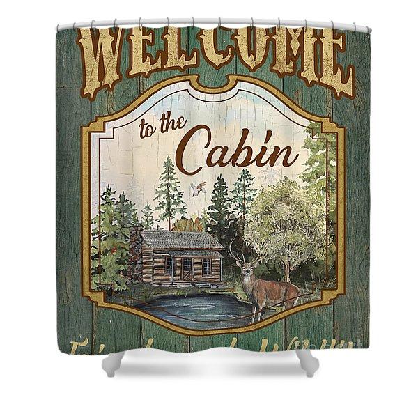 Wilderness Lodge-a Shower Curtain