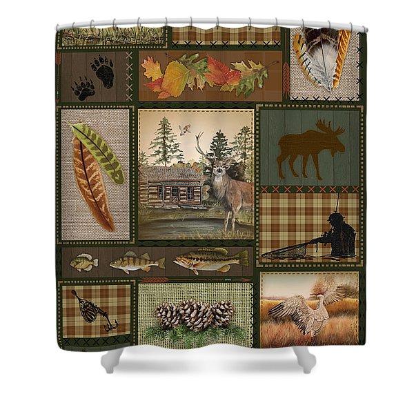 Wilderness Lodge-g2 Shower Curtain