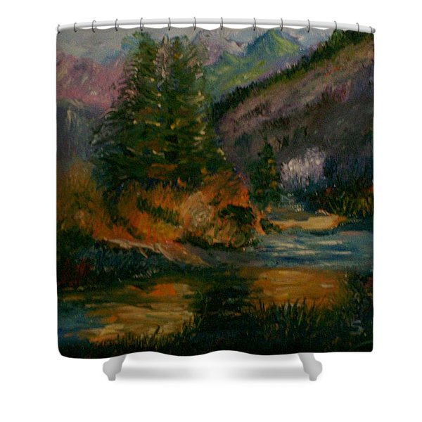 Wilderness Stream Shower Curtain