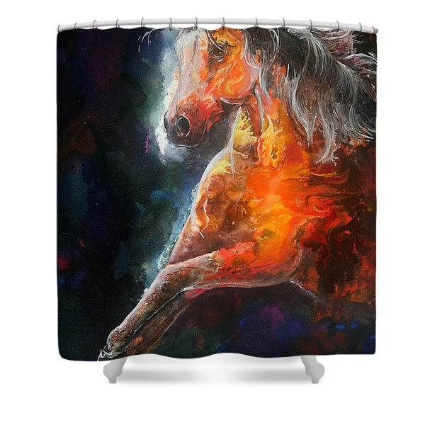 Wildfire Fire Horse Shower Curtain