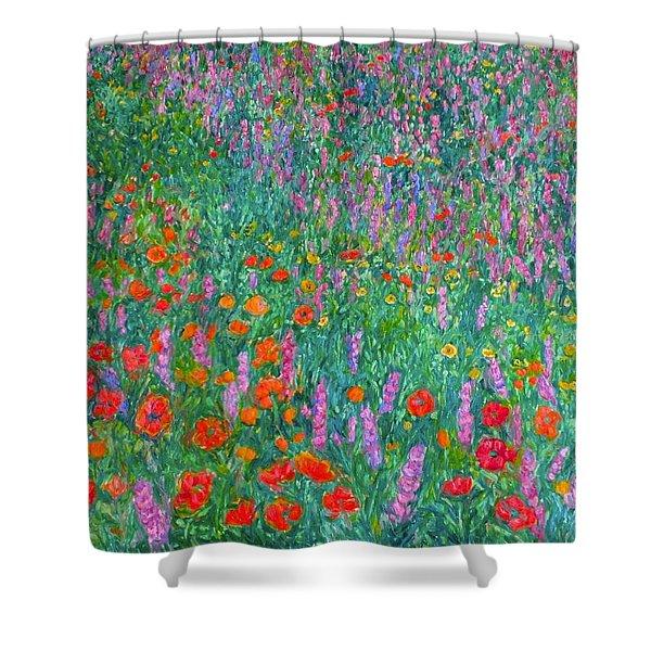 Wildflower Current Shower Curtain