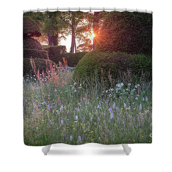 Wildflower Meadow At Sunset, Great Dixter Shower Curtain