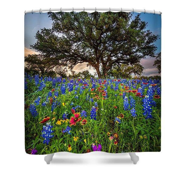 Wildflower Tree Shower Curtain