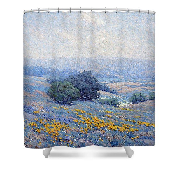 Wildflowers, Poppies, And Lupines Shower Curtain