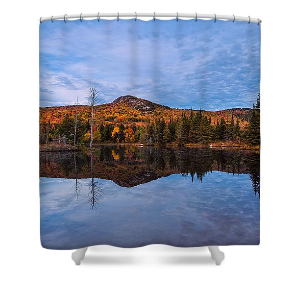 Shower Curtain featuring the photograph Wildlife Pond Autumn Reflection by Jeff Sinon