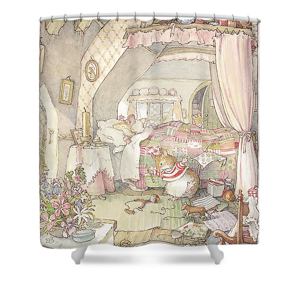 Wilfred's Birthday Morning Shower Curtain
