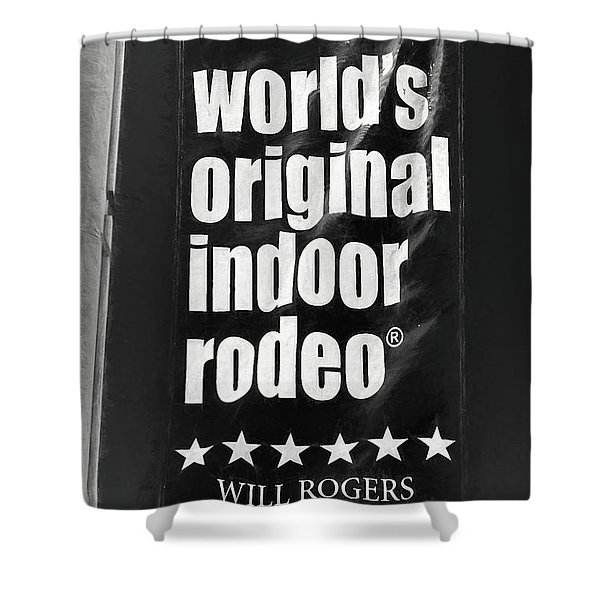 Will Rogers Rodeo Bw Shower Curtain