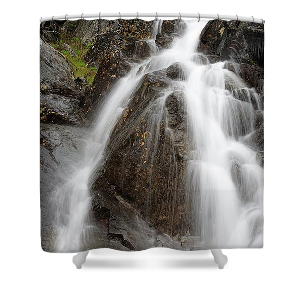 Shower Curtain featuring the photograph Willey Brook Falls - White Mountains New Hampshire Usa by Erin Paul Donovan