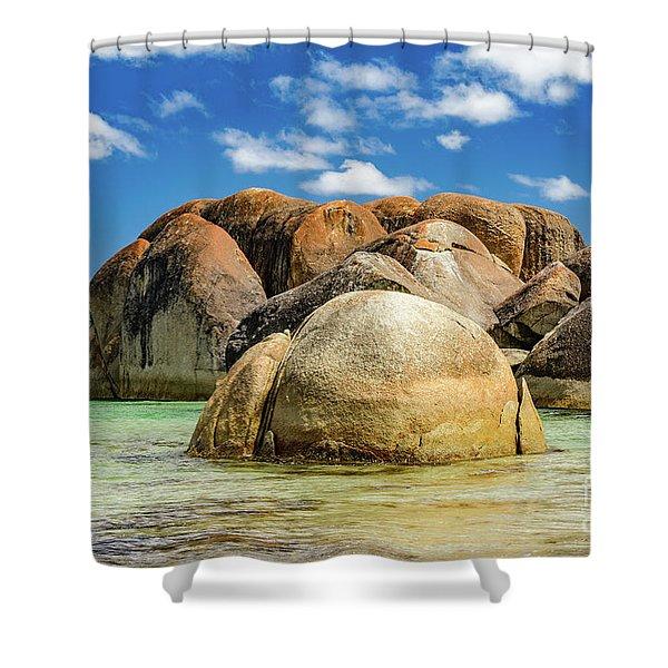 William Bay Shower Curtain