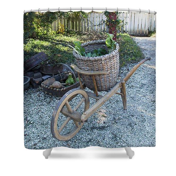 Williamsburg Basket Cart Shower Curtain