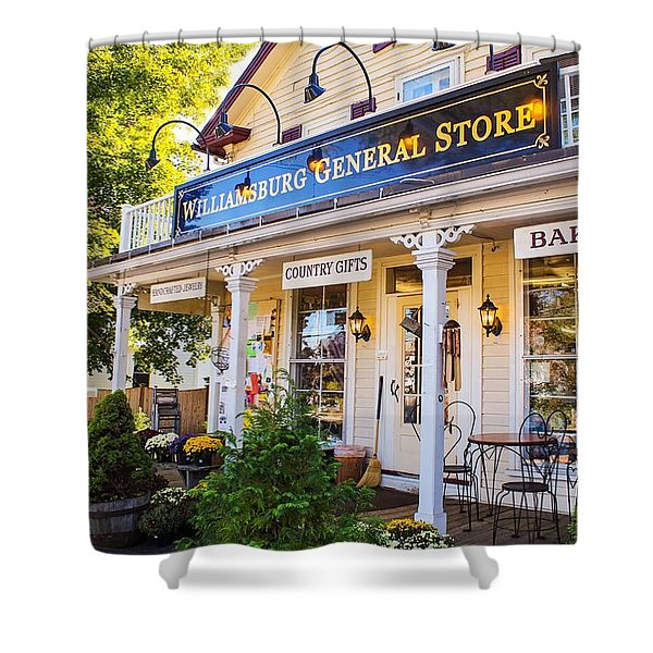 Shower Curtain featuring the photograph Williamsburg General Store Mass by Sven Kielhorn