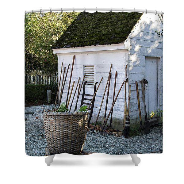 Williamsburg Potting Shed Shower Curtain