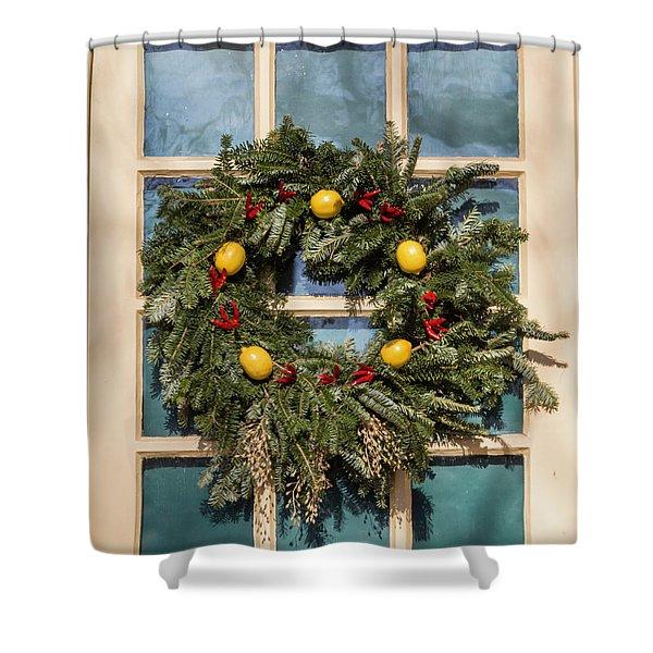 Williamsburg Wreath 37 Shower Curtain