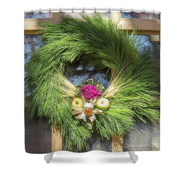 Williamsburg Wreath 49 Shower Curtain