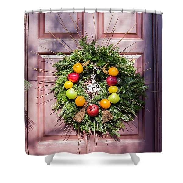 Williamsburg Wreath 53 Shower Curtain