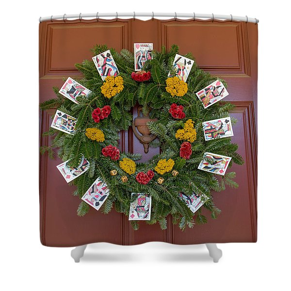 Williamsburg Wreath 56 Shower Curtain