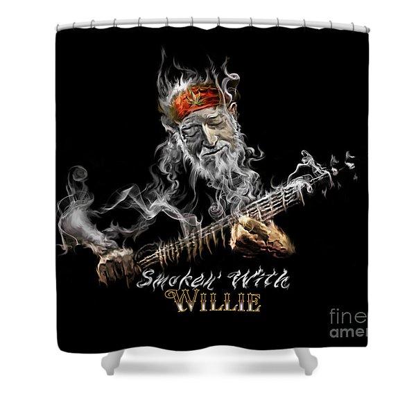 Willie Smoken' Shower Curtain