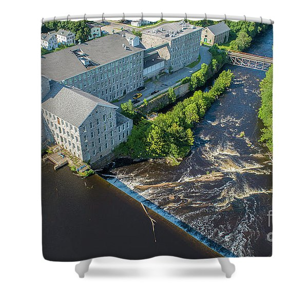 Willimantic River And Mill #2 Shower Curtain