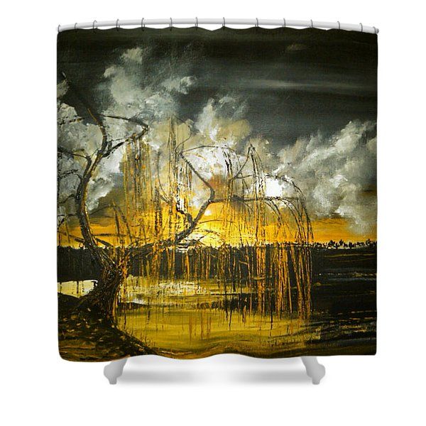 Willow On The Shore Shower Curtain