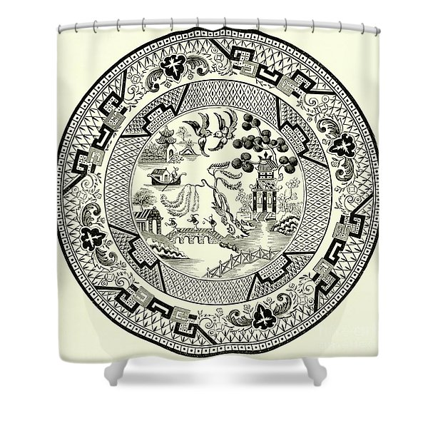 Willow Pattern Shower Curtain