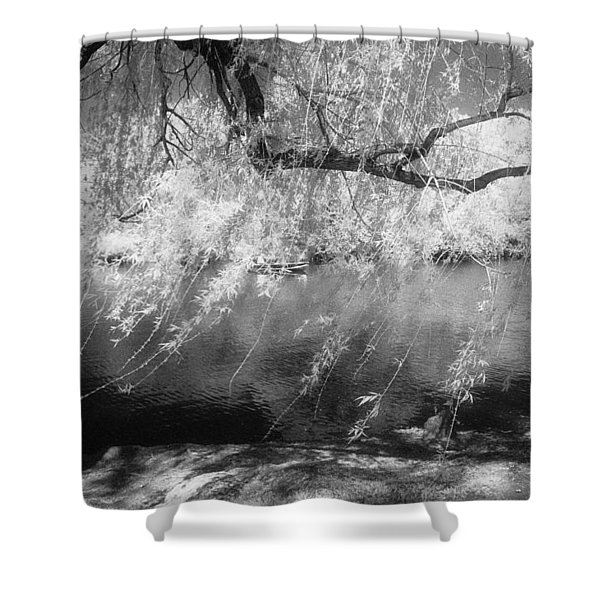 Willow Tree Lake II Shower Curtain